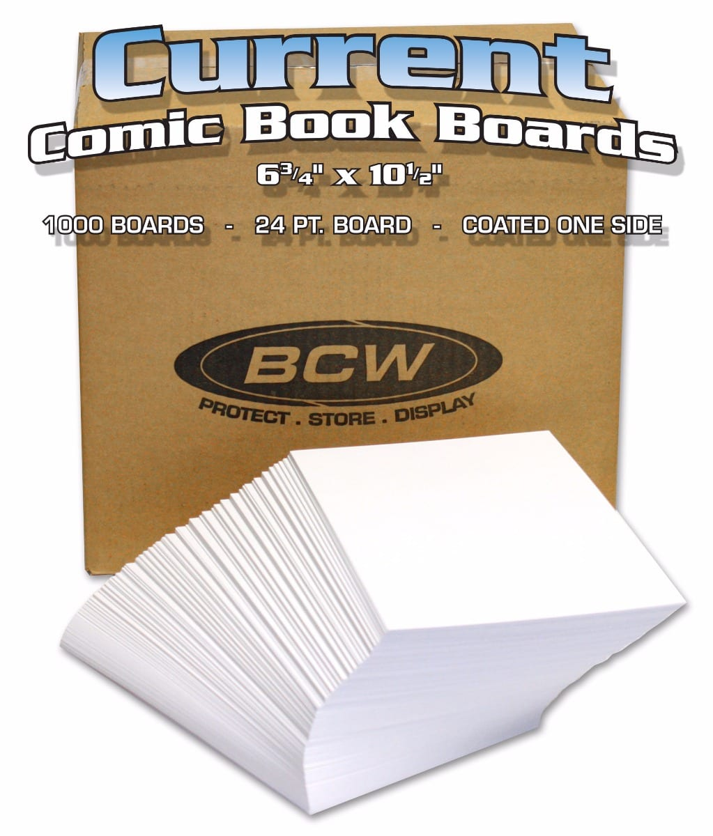 BULK 6 5//8 x 10 1//2 1 Case BCW Modern Comic Backing Boards 1000